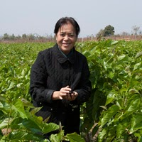 Kommaly Chantavong, founder of Lao Sericulture Co.