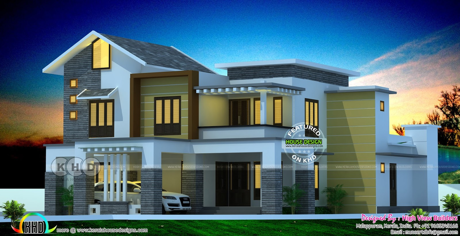 Beautiful modern style 4 bedroom mixed roof home killing for Modern houses 4 bedroom