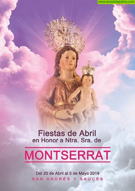 Programa Fiestas de Abril en Honor a Nuestra Señora de Montserrat 2019 en San Andrés y Sauces