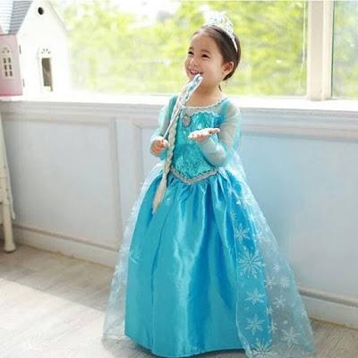 Baju Dress Frozen Elsa
