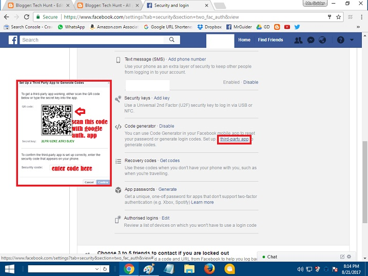 Set Up Google Authenticator For Facebook 2 Step Verification