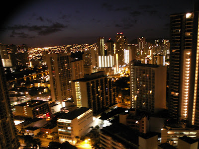 city lights of Honolulu