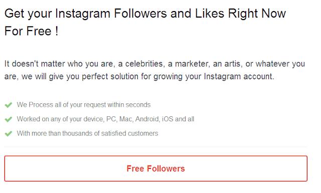 Cara Mendapatkan Followers Instagram Gratis Sampai 1K+ Real Human Update 2017