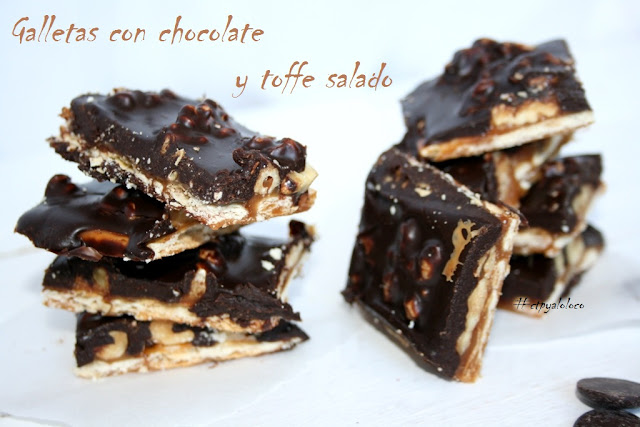 Galletas con chocolate y toffe salado