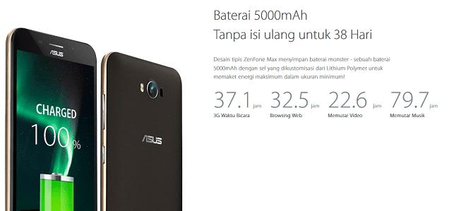 Spesifikasi lengkap Asus Zenfone Max
