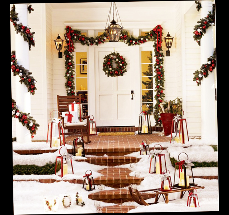 Christmas Front Door Porch Decorations - Ellecrafts