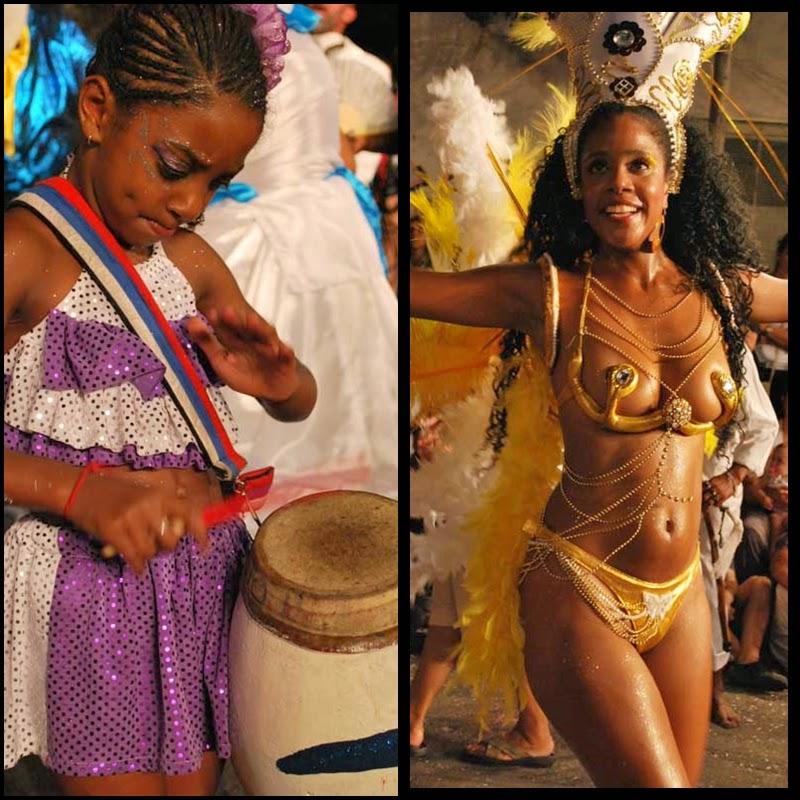 Carnaval. Desfile de Llamadas. Montevideo. Agrupación Isla de Flores. 2010.