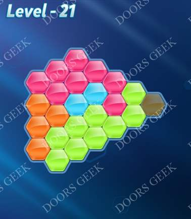 Block! Hexa Puzzle [5 Mania] Level 21 Solution, Cheats, Walkthrough for android, iphone, ipad, ipod