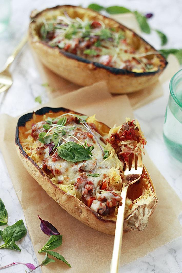 10 delicious vegan spaghetti squash recipes yummy mummy kitchen 10 delicious vegan spaghetti squash recipes forumfinder Gallery