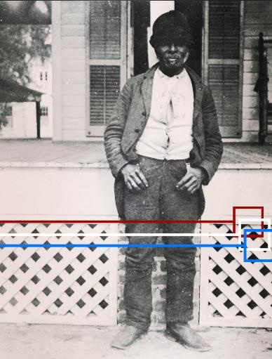 Liberia emancipation from slavery. Former slave at Live Oak Plantation Leon County, Florida