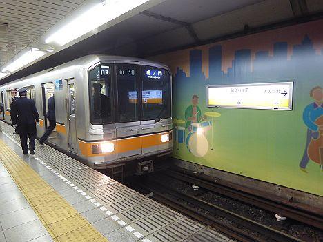 銀座線 虎ノ門行き 01系(渋谷駅改良工事に伴う運行)