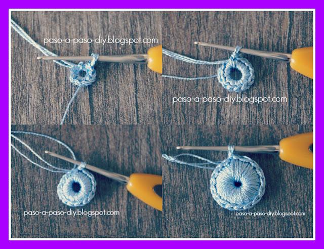 flor tejida al crochet