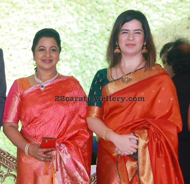 Radhika and Rayanne at Aadhav Kannadasan Vinodhinie Wedding