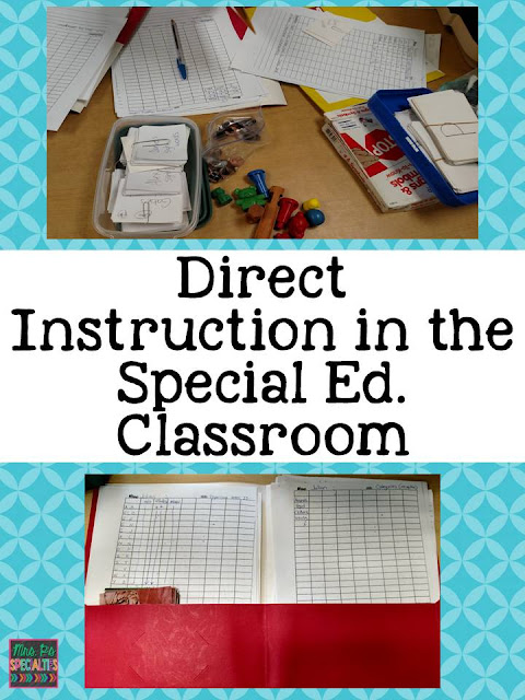 It can be a challenge to organzie groupings and meet everyone's needs in a special education classroom. Here are 3 different types of instruction to get you started.