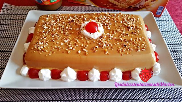 Tarta-flan De Dulce De Leche Y Galletas