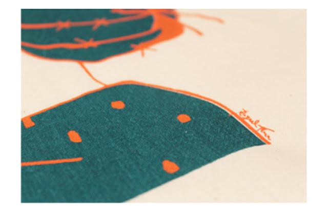 Illustrated totebag. Cactuswoman - Bolso ilustrado con mujer cactus