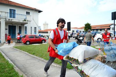 Cruz Vermelha já contabiliza mais de 5 toneladas de doações as famílias vitimadas no desabamento do edifício