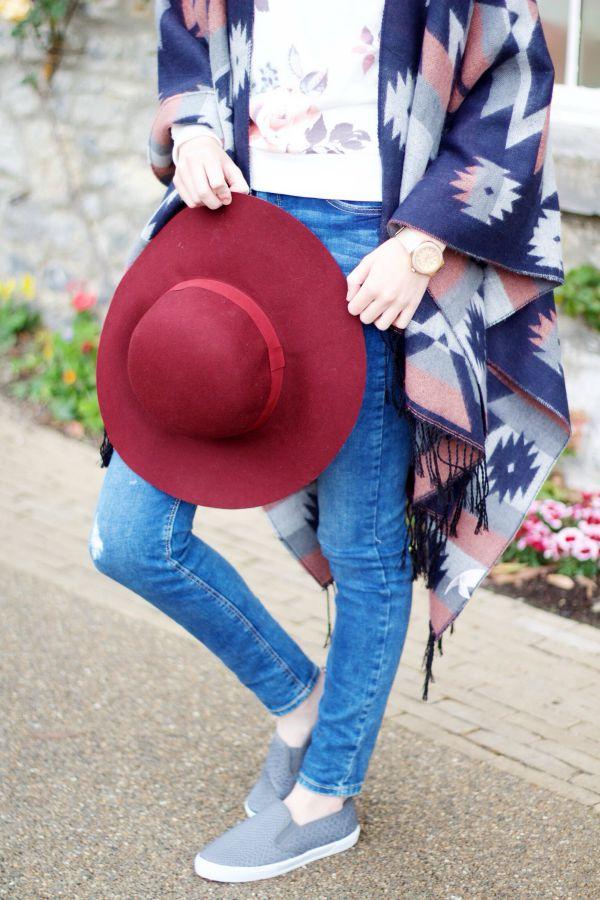 Autumn burgundy outfit