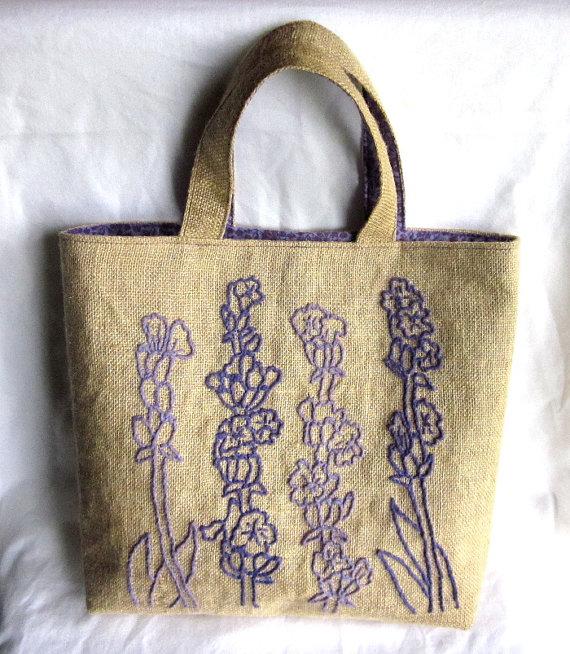 κεντημένη λινάτσα, κέντημα σε λινάτσα, τσάντα από λινάτσα, κατασκευές από λινάτσα, κεντημένη τσάντα, κέντημα λουλούδια,