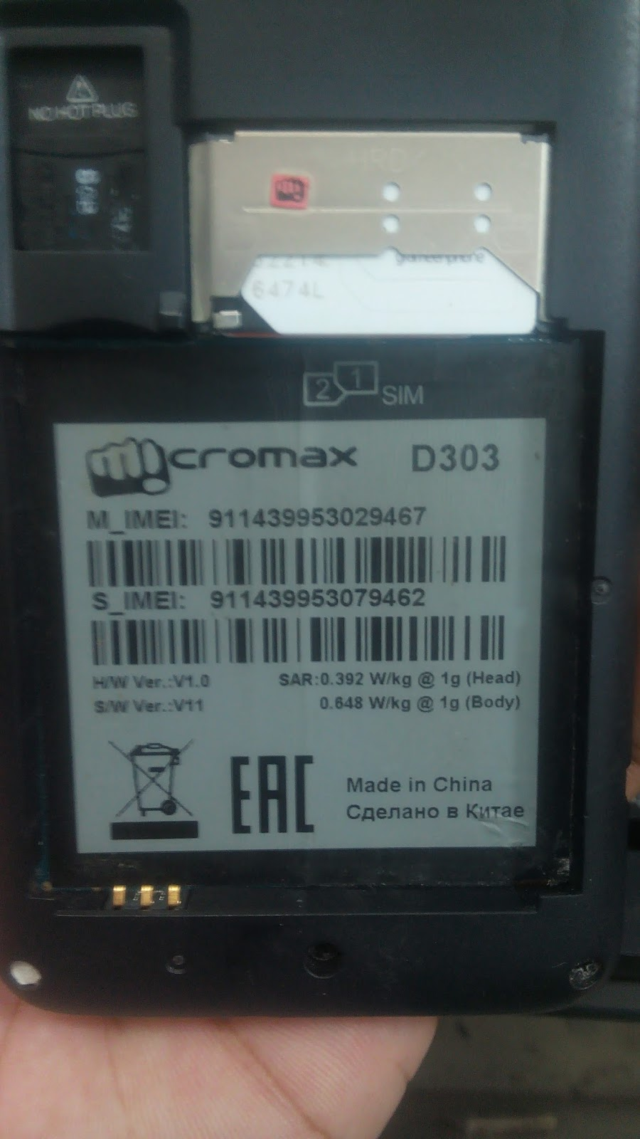 Micromax D303 Flash File Sw Version 11
