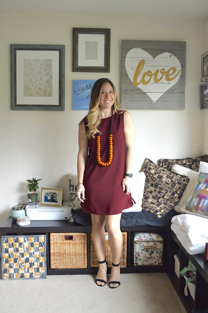Sleeveless Sheath Dress & Moroccan Amber: Peplums & Pie // Cupcakes & Cashmere Dress // Moroccan Amber Necklace // Vince Camuto Black Sandals // Marc by Marc Jacob Watch // Gold Earrings // peplumsandpie.com