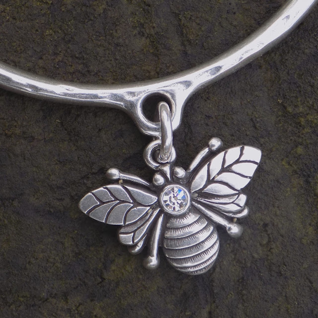 Danon jewellery svarowski set bee bangle