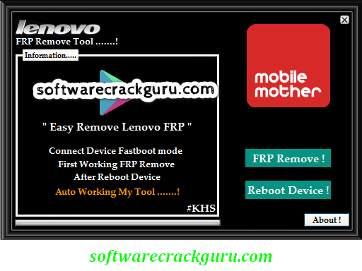 Lenovo Frp Remove Tool Free Download [100% Working]