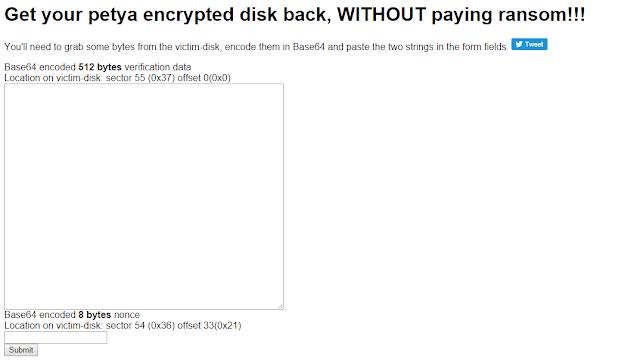 petya02 - Strumenti disponibili, fino ad oggi, per il recupero dei file infetti dai Ransomware (Aggiornato al 23 Agosto 2017)