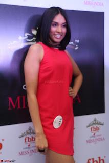 Spatika Surapaneni in Red Tight Dress at FBB Miss India 2017 finalists at Telangana auditions Feb 2017 (13).JPG