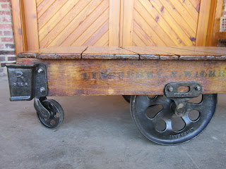 Refurbished Reclaimed Furniture Factory Cart Coffee Table