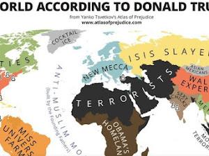 """Peta Dunia 'Menurut Donald Trump', Keterlaluan Nih Indonesia Di """"Label"""" Negara Teroris"""