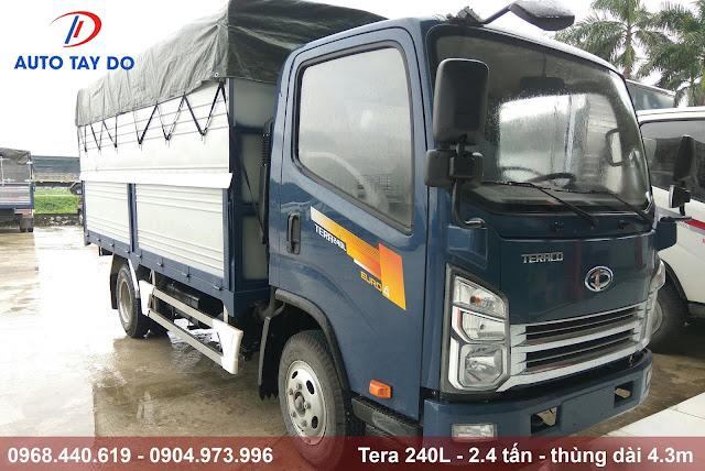 xe tải tera 240L thùng bạt dài 4.3m