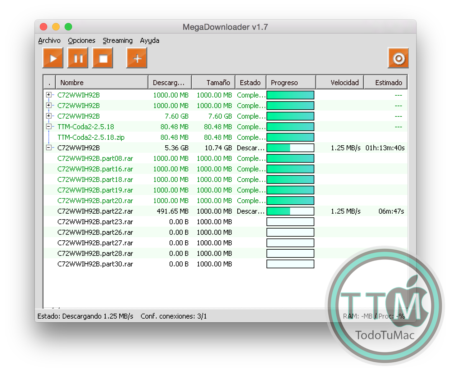 MegaDownloader v1.7 [wine] - TodoTuMac