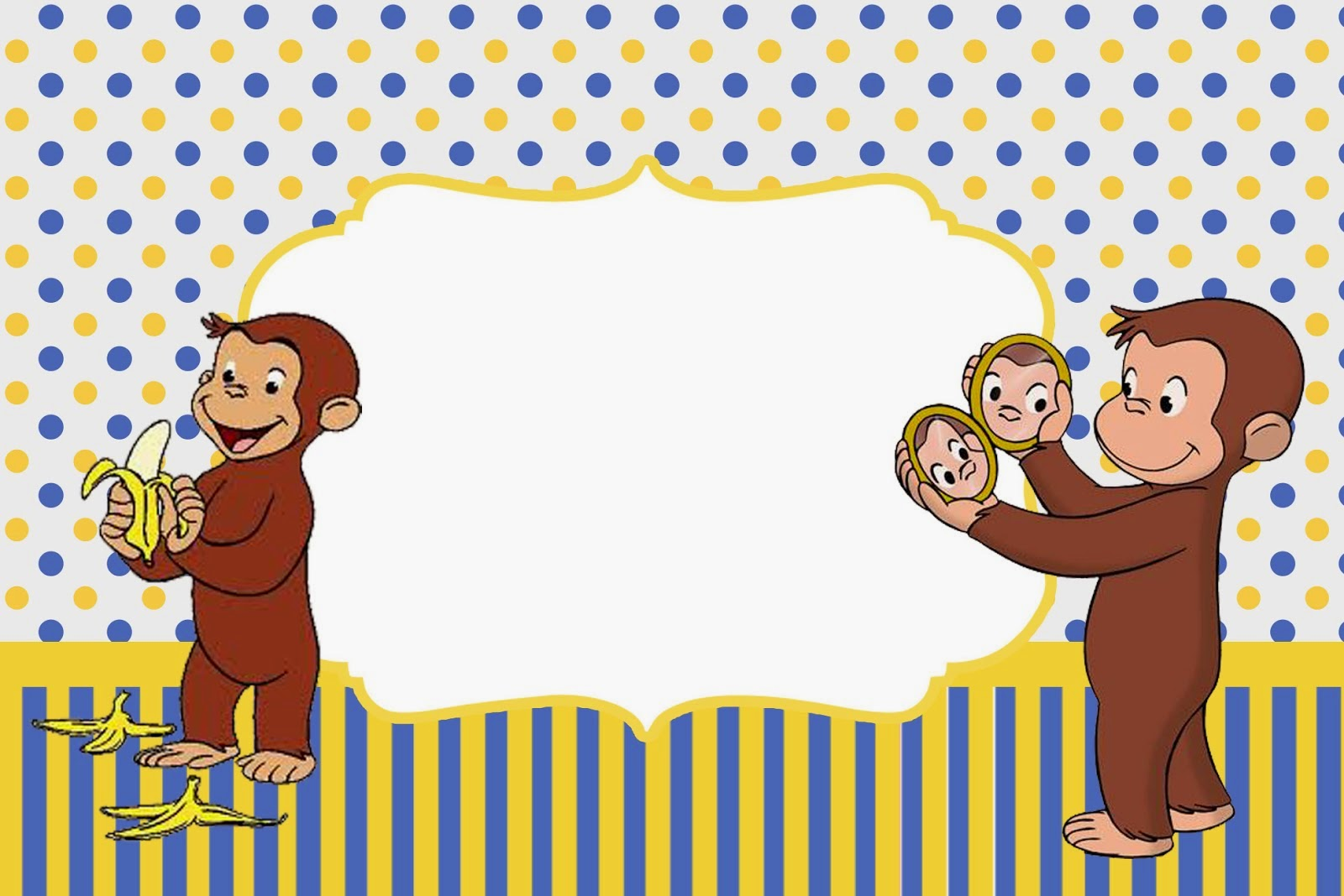 Curious George Free Printable Invitations Oh My Fiesta In English