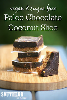 Healthy Vegan Paleo Chocolate Almond Slice Recipe