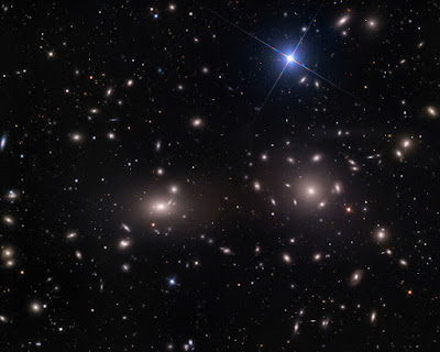 Wide-field image of the Coma Cluster of galaxies taken at the Mount Lemmon SkyCenter using the   0.8m Schulman Telescope. Image courtesy Adam Block