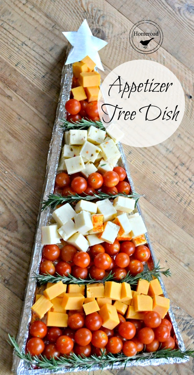 Christmas Appetizer Tree DIY Tray www.homeroad.net