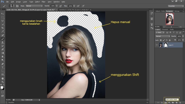 Cara Memotong Gambar Dengan Photoshop Fojo Design Fojo Design