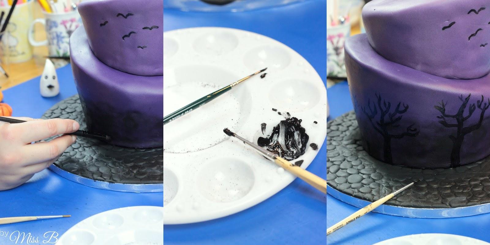 Torte mit lebensmittelfarbe bemalen  Appetitlich FotoBlog fr Sie