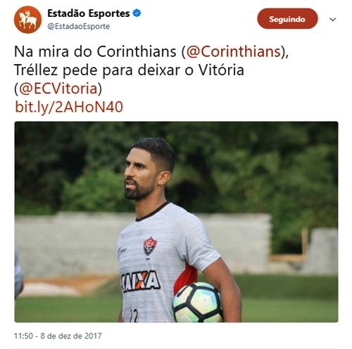 Na mira do Corinthians e São Paulo, Santiago Tréllez comunica ao Vitória desejo de ser negociado 2