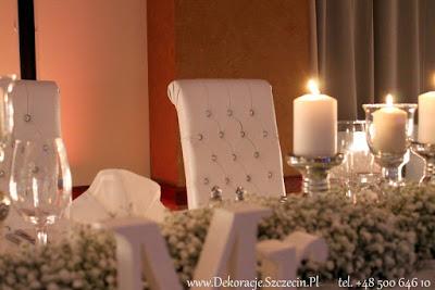 dekoracja ślubna z gipsówki Szczecin