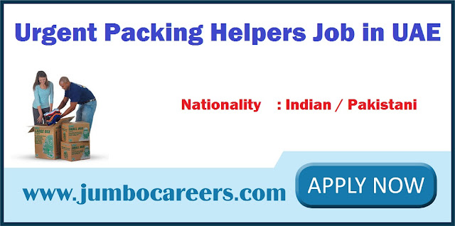 Urgent Packing Helpers Job in UAE