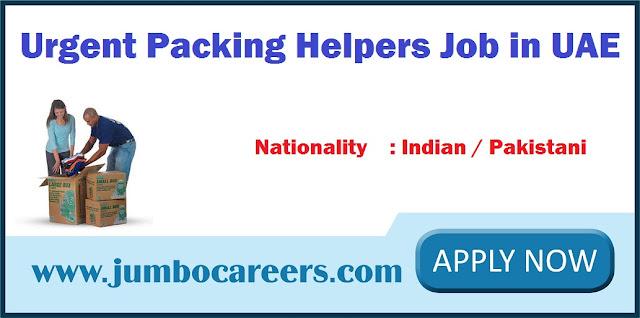 Urgent Packing Helpers Job in UAE