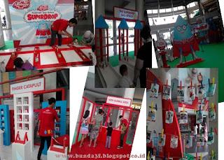 Booth-booth permainan saat peluncuran Lifebuoy ClinieShield10 Shower Gel Concentrate