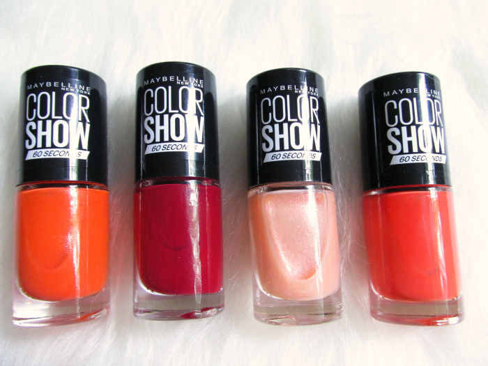 Maybelline Sweet & Spicy 432 Tangerine Tango, 436 Crushed Cayenne, 431 Vanilla Venom, 434 Hot Pepper