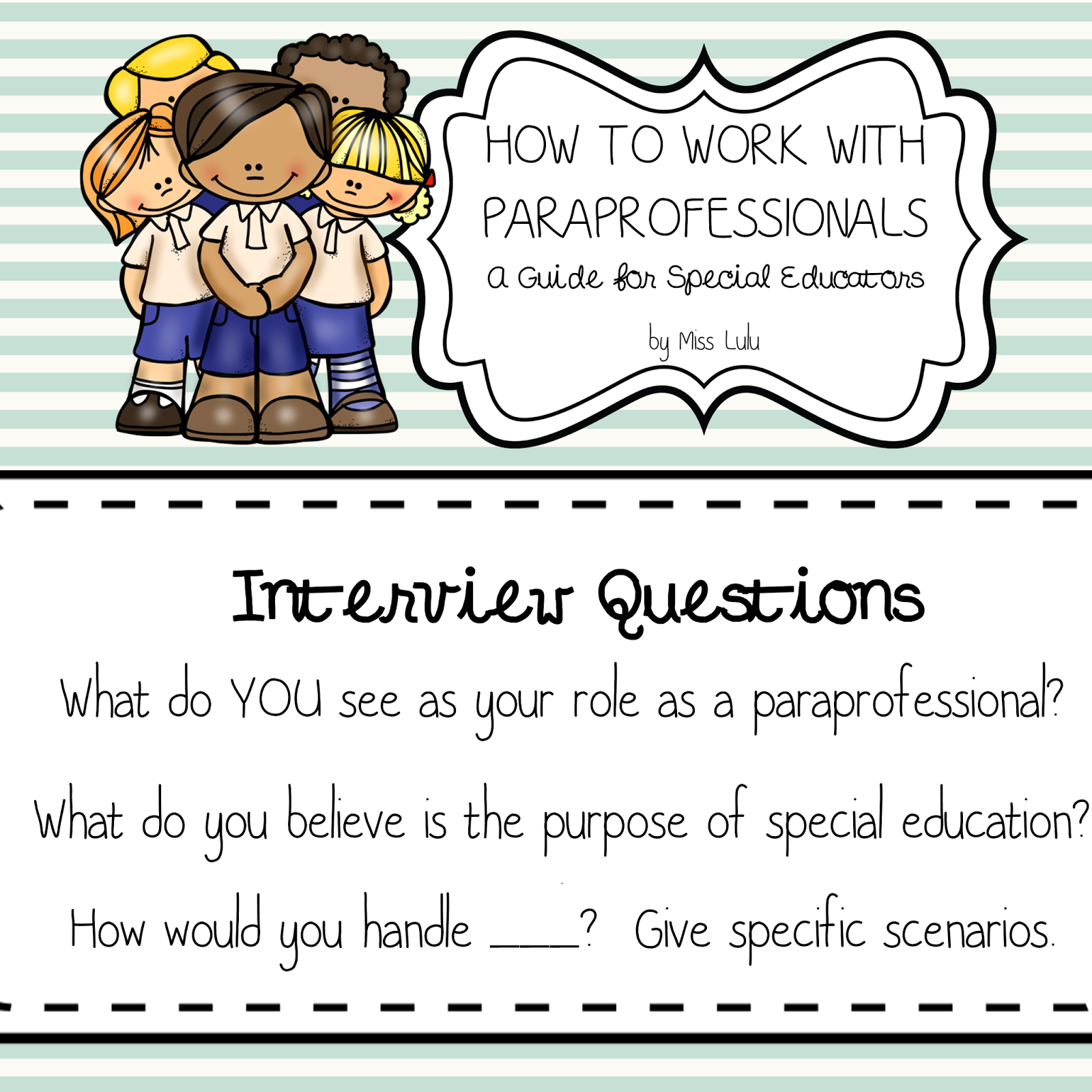 How To Work With Paraprofessionals Part 1 Miss Lulu
