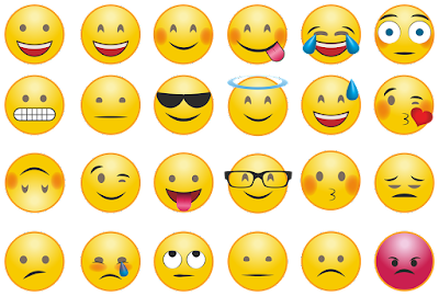 Ilustrasi emoji untuk aplikasi chat. Sumber : pixabay.