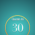 Quran in 30 Days App is available on the AppStore