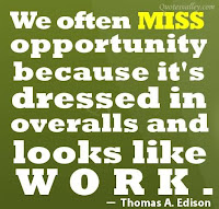 wisdom quote, work as opportunity