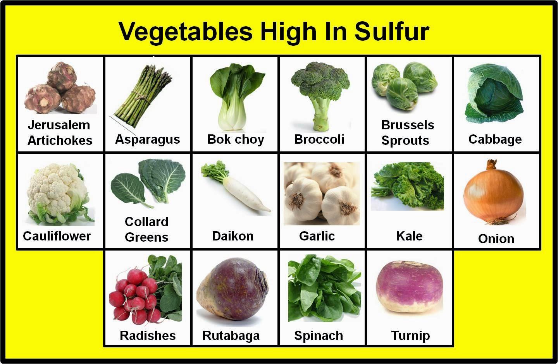 Foods High In Sulphur List